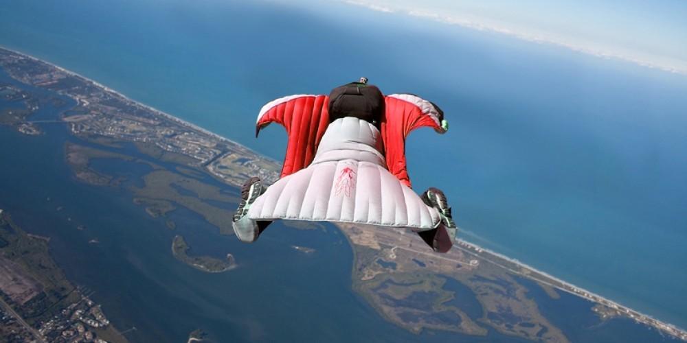 Caméra embarqué sur Wingsuit