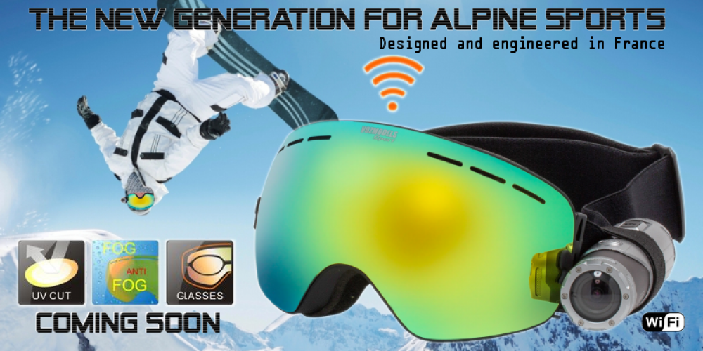 The Easy Ski goggles camera with built-in WiFi